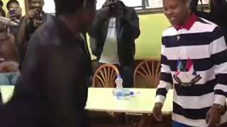 Nasty C dancing odi dance for the first time in Nairobi,Kenya