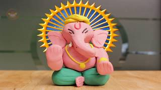 Vinayaka Chavithi #1| Ganesh Chaturthi ‐ Ganesh Murti Making at Home | Ganesha Idol Making with Clay