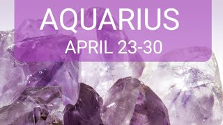 💜AQUARIUS💭💫👩🏭CHANGE & A MOVE! TURNING DAYDREAMS INTO PASSIONATE PLANS! APRIL 23-30!