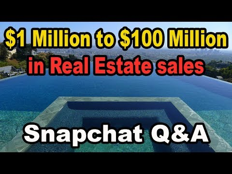 $1 Million to $100 Million in sales as a Real Estate Agent