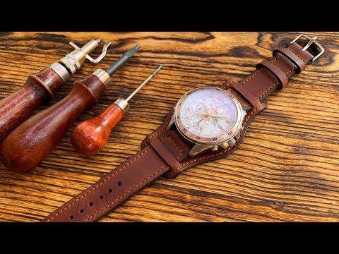 """Ремешок """"Напульсник"""" для наручных часов из кожи Crazy Horse от #wildleathercraft"""