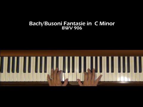 Bach/Busoni Fantasia in C Minor Piano Tutorial Part 2