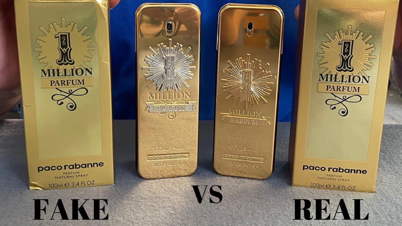 Fake vs Real Paco Rabanne 1 Million Parfum 100 ML