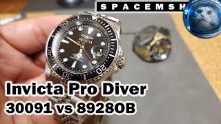 Invicta Pro Diver 30091 vṡ 8928OB Review