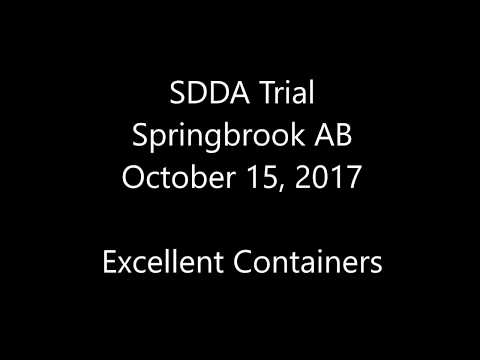 SDDA Trial - Springbrook AB - October 15, 2017 - Excellent Container