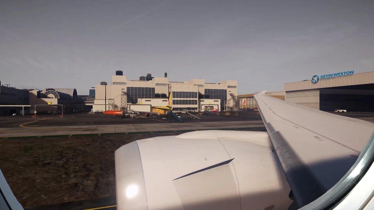 Llega de Angela a Los Santos International Airport