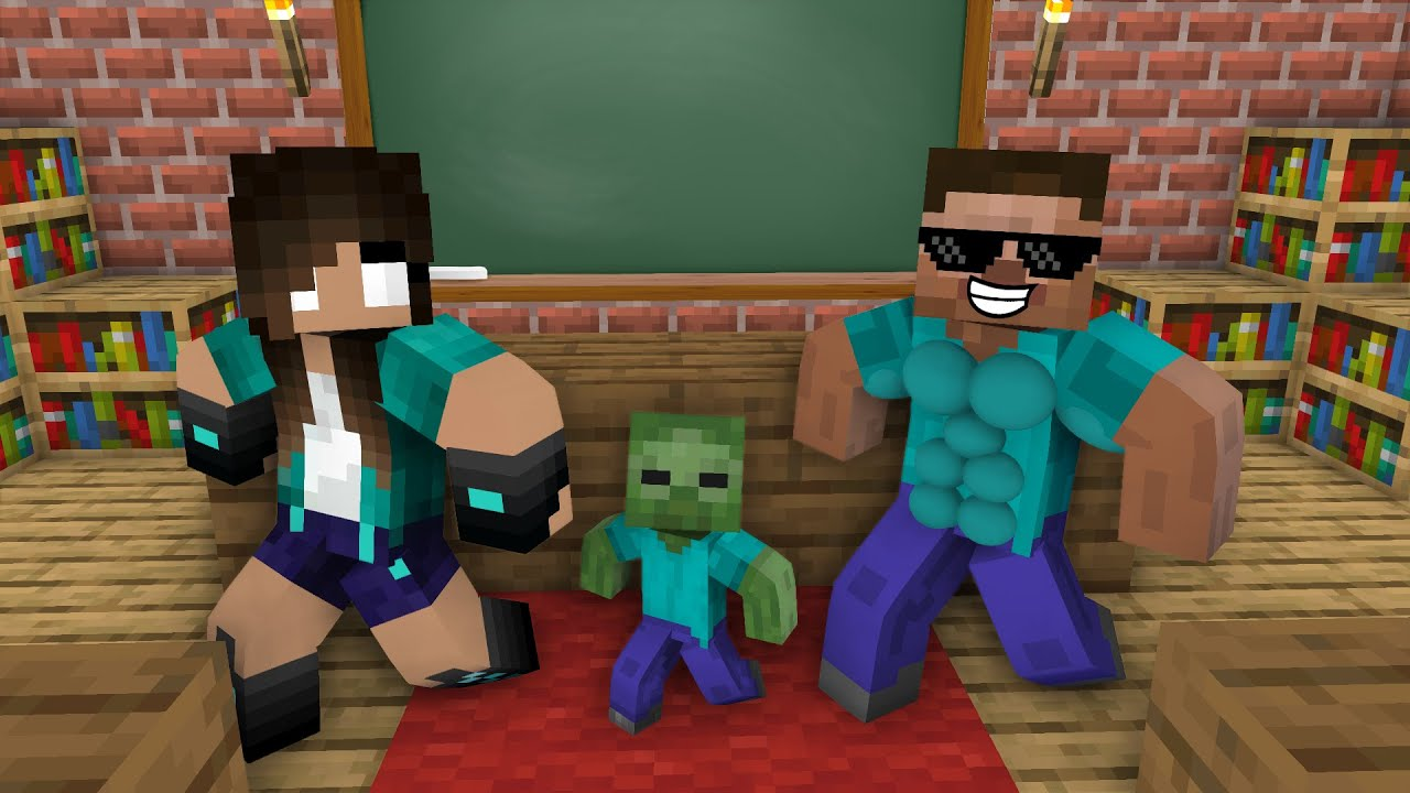 Monster School : MONSTERS BECAME DANCERS CHALLEBGE - Minecraft Animation
