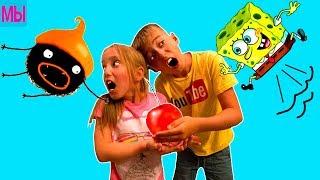 Хитрый смешной зверек мультик Семья играет CHUCHEL детский летсплей видео для детей LetsPlay by kids