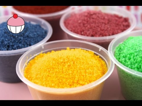 Make DIY Sugar Sprinkles for Cakes and Cupcakes! A Cupcake Addiction How To Tutorial