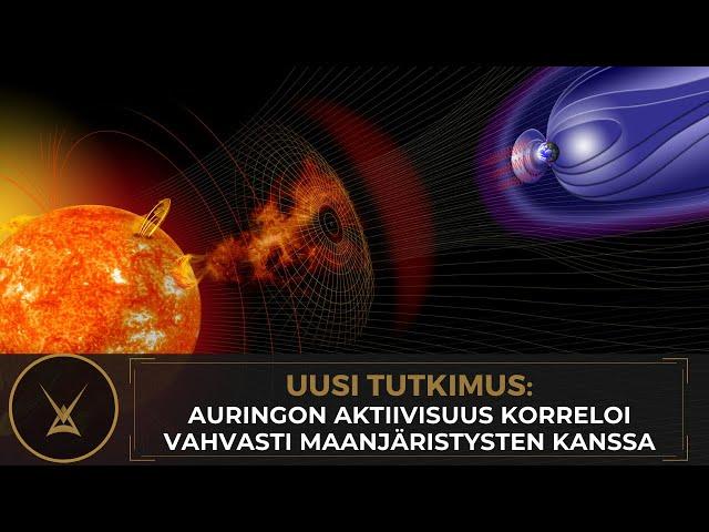 Uusi tutkimus - Auringon aktiivisuus korreloi vahvasti maanjäristysten kanssa