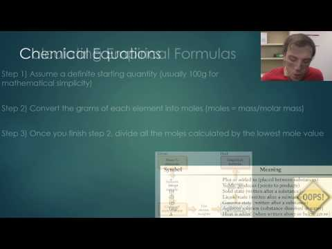 Composition of Compounds and Chemical Equations: Video 1 - Part 1 (Content)