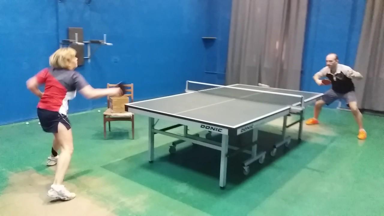 настольный теннис игра у стола - YouTube