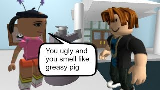 This 7 years old said she don't like Bacon Hair | ROBLOX HIGH SCHOOL