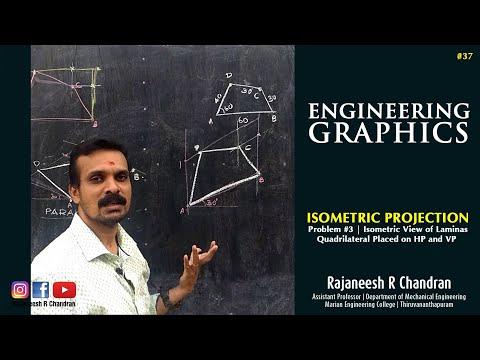 Isometric View Of A Quadrilateral Lamina | Rajaneesh R Chandran | Engineering Graphics