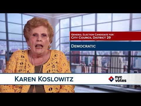 Karen Koslowitz: Candidate for Council District 29