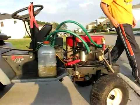 Geet reactor on riding lawn mower