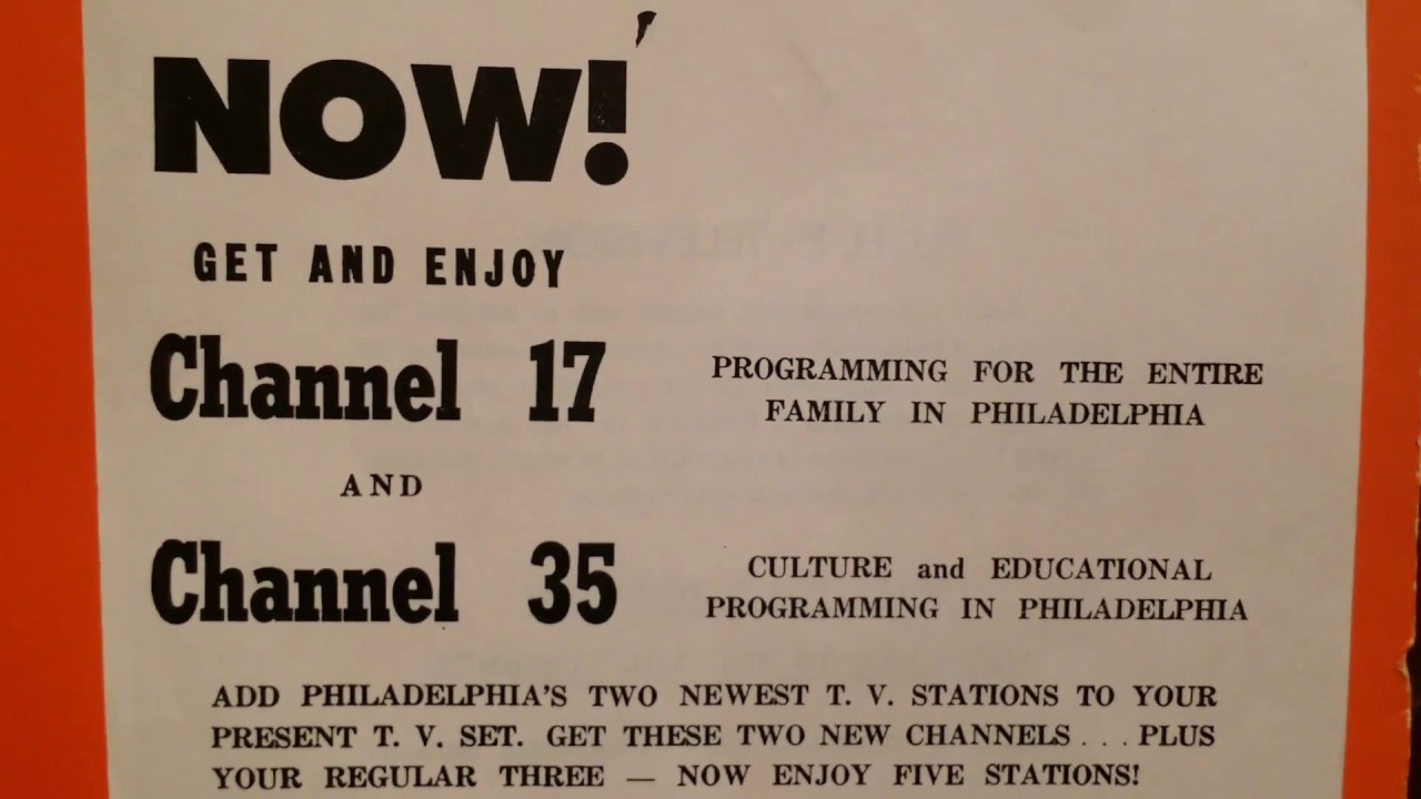 RJ Ron Joseph Remembers 6: The Early Days of UHF Television in  Philadelphia, Special Converter Boxes