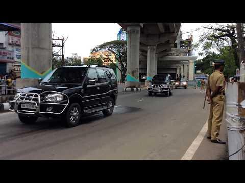 P.M Narendra Modi Convoy in Kochi
