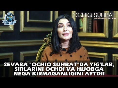 """Sevara """"Ochiq Suhbat""""da Yig'lab, Sirlarini Ochdi Va Hijobga Nega Kirmaganligini Aytdi!"""