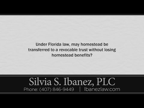 Under Florida law, may homestead be transferred to a revocable trust without losing