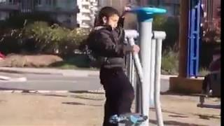 Spor Aletinden Düşüp Kafasını Çarpan Çocuk