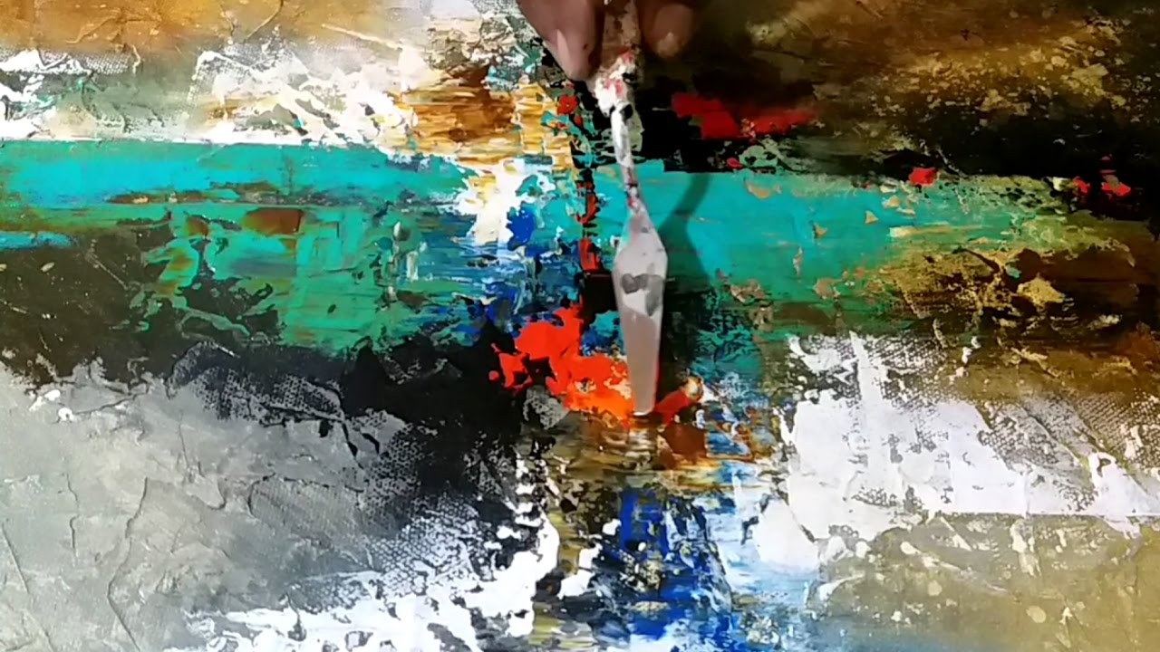 Abstract Painting / Demonstration of Acrylic Abstract
