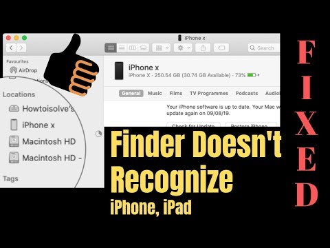 MacOS Catalina: Finder Doesn't Recognize IPhone, IPad, IPod Touch & Won't Detect On Finder, Sync