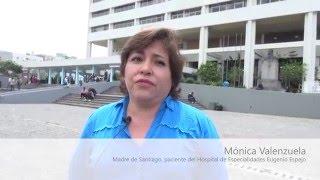 Agradecimiento de Monica, madre de  Santiago
