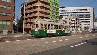 広島電鉄1900形1904号『かも川』日赤病院前〜広電本社前