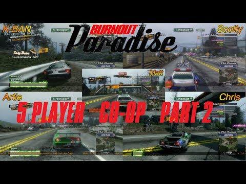 Burnout Paradise 5 Player Co-op Part 2