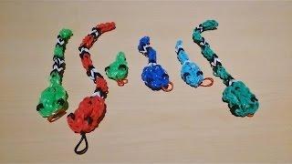 плетение из резинок змейка урок 2