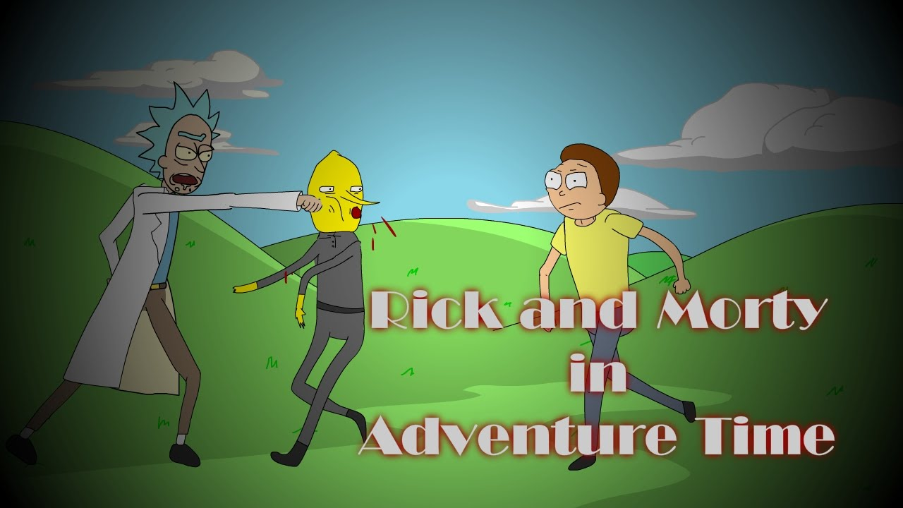 Gravity Falls 4k Wallpaper Rick And Morty In Adventure Time Animated Parody