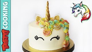 UNICORN CAKE Tutorial 🍰 How To Make a Unicorn Cake From Scratch 🍰 Tasty Cooking