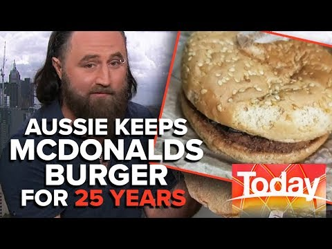 Aussie Man Owns World's Oldest McDonalds Burger | Today Show Australia