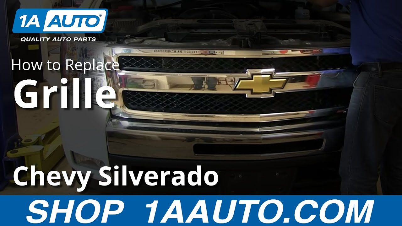 How To Remove Install Front Grille 2007 13 Chevy Silverado