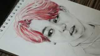 [FanArt] Charcoal and watercolor portrait - Jimin (BTS) [D Fire](Here is my new process video. Please do not re-upload. I own only drawing. Music: BTS - Dope (Instrumental by koreanpopinst ..., 2015-11-14T12:29:59.000Z)