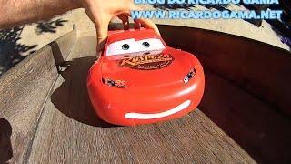 Relâmpago Lightning McQueen do filme Carros Cars em altas aventuras Toys Juguetes Kids