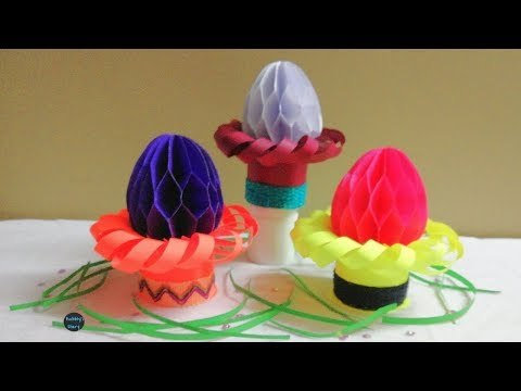 DIY Paper Easter egg - How to Make 3D Paper Easter Eggs