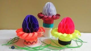 DIY Paper Easter egg - How to Make 3D Paper Easter Eggs