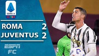 Cristiano Ronaldo rescues 10man Juventus in 22 draw vs. Roma | ESPN FC Serie A Highlights