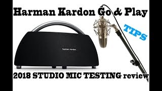 hARMAN KARDON GO & PLAY 2018 STUDIO MIC testing - Full Review - Still best bluetooth premium speaker