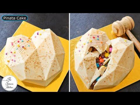"""Как сделать """"В тренде"""" Торт Пиньята    Шоколадный торт с сюрпризом внутри ~ The Terrace Kitchen"""