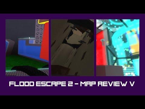 Flood Escape 2 - Map Review 5 - Challenge Maps! [Techno Reactor, Old Apartment, Core]