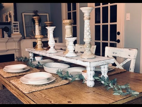 DIY Wood Table Riser || DIY Wood Table Runner || Farmhouse Tabletop Riser