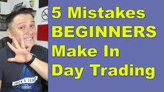 Top 5 Mistakes we all make as BEGINNERS in Day Trading // Forex, Binary Options and Crypto