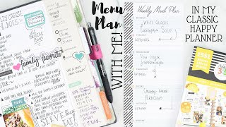 Meal Planner - Meal Plan With Me! | Classic Size Happy Planner | At Home With Quita