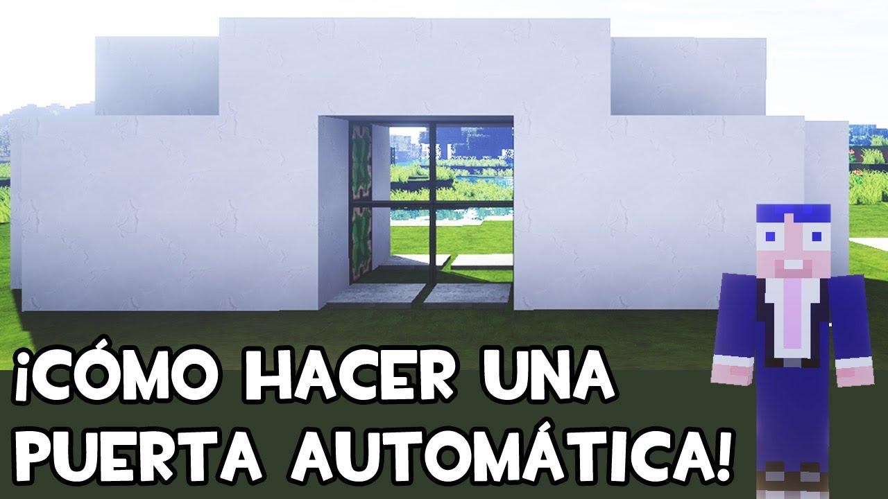 Puerta autom tica en minecraft tutorial youtube for Puerta xor minecraft