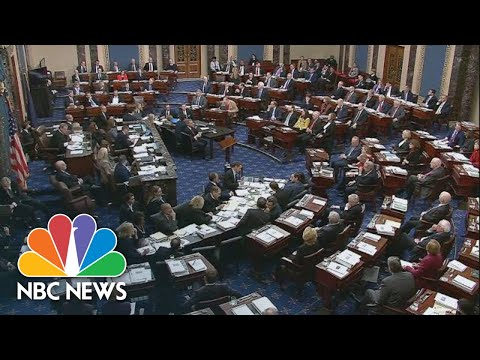 Senate Votes on Articles of Impeachment Against Trump | NBC News (Live Stream Recording)