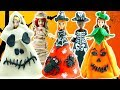 Play Doh Halloween Costumes for Magic Clip Disney Princess Dolls