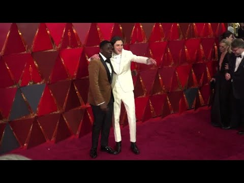 Celebrities arrive for 90th Oscars ceremony